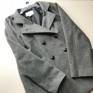 Grey Wool Banana Republic Jacket Full Lining XL